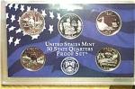 2003-s C/n Clad U.s. Treasury State Quarters Only Proof Set: No Box & No Coa 5 Coins