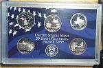 2004-s C/n Clad U.s. Treasury State Quarters Only Proof Set: No Box & No Coa 5 Coins