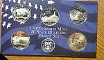 2006-s C/n Clad U.s. Treasury State Quarters Only Proof Set: No Box & No Coa 5 Coins