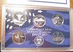 2007-s C/n Clad U.s. Treasury State Quarters Only Proof Set: No Box & No Coa 5 Coins