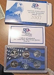 2007-s C/n Clad U.s. Treasury State Quarters Only Proof Set In Original Box With Coa 5 Coins