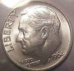 1964 Roosevelt Dime - Bu To Choice Bu Or Better - From Original Roll Coins