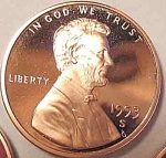 1993-s Lincoln Deep Cameo Proof Cent Red Gem Coins