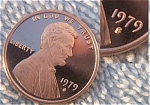 1979-s Type Ii Lincoln Deep Cameo Gem Proof Red Cent - Clear Or Non-blob 's' Variety Coins