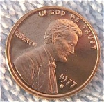 1977-s Lincoln Deep Cameo Proof Cent Red Coins