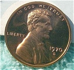 1970-s Large Date Lincoln Brilliant Proof Cent Red Coins