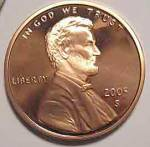 2005-s Lincoln Deep Cameo Proof Cent Red Gem Coins