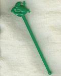 Western Airlines Green 3-d Wally Swizzle Stick