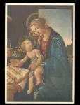 Italian Mary And Jesus Botticelli Postcard