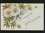 Elmer Johnson Embossed 1910 Postcard.