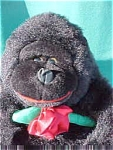 Stuffed Toy Gorilla And Little Gorilla Book