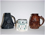 Star Wars 3 Pc. Cup Mug Set Darth Vadar Chewbacca R2d2