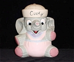 Cooky Baby Elephant Large Pastel Cookie Jar
