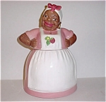 Rose Pink Strawberry Brayton Laguna Mammy Cookie Jar