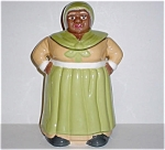 Olive Green Pearl China Design Mammy Cookie Jar