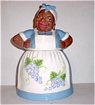 Brayton Laguna Design Mammy With Grapes Cookie Jar