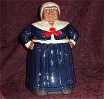 Red White & Blue Leon Mammy Cookie Jar