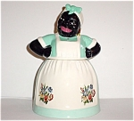 Brayton Laguna Design Blackface Cookie Jar Jadeite