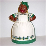 Brayton Laguna Mammy Green Plaid Cookie Jar