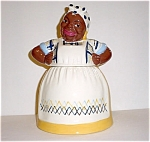 Brayton Laguna Mammy Yellow Plaid Cookie Jar
