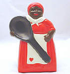 Mammy Heart In Red Dress Large Spoon Rest