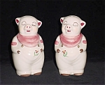 Smiley Pig W/ Tulips Range Size Salt And Pepper Shakers