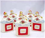 Hull Style 6 Piece Little Red Riding Hood Spice Jar Set