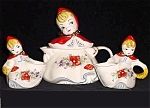 Little Red Riding Hood Tea Set Teapot Sugar Creamer