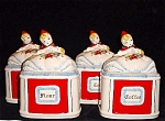 Hull Style Little Red Riding Hood 4 Pc. Canister Set