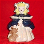 Exclusive Cobalt Silver Goldilocks Cookie Jar