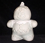 Hull Style Flint Rock Gray Gingerbread Man Cookie Jar