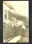 Frank & Dora W/house Photo Postcard C.1910.