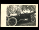 Real Photo Postcard Family In Automobile