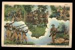 U.s. Infantry Army Military Ww-2 1941 Postcard