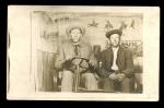 Real Photo Postcard Men In Fake Auto