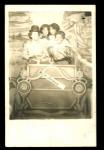 Photo Postcard Of 4 Ladies 1909