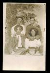 Photo Postcard Of 2 Couples. C.1910