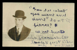 Postcard Face Of Man Named 'sid' 1907