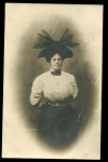 Real Photo Postcard Of A Woman Big Hat.