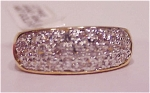 Costume Jewelry - 14k Gold Plated Cubic Zirconia Pave Ring