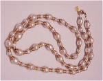 Costume Jewelry - Anne Klein Baroque Pearl Antique Gold Tone Necklace