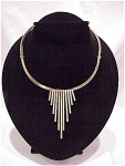 Costume Jewelry - Art Deco Style Choker Necklace With Dangling Bars