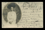 Photo Postcard Of A Women 1906 Solid Back