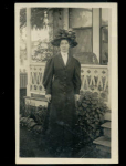 Real Photo Postcard Of A Lady Big Hat