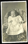 Baby In Christening Gown Photo Postcard