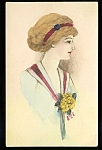 Watercolor Artist Signed C.1910 Postcard