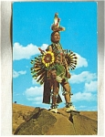Colorful Indian Native Dancer Postcard 1961