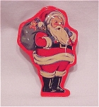 Costume Jewelry - Vintage Style Santa Claus Christmas Tin Brooch Or Pin
