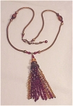 Costume Jewelry - Copper Necklace With Red And Amber Colored Beads