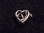 Antique Victorian Or Edwardian Jewelry - Heart And Wishbone C Clasp Watch Pin